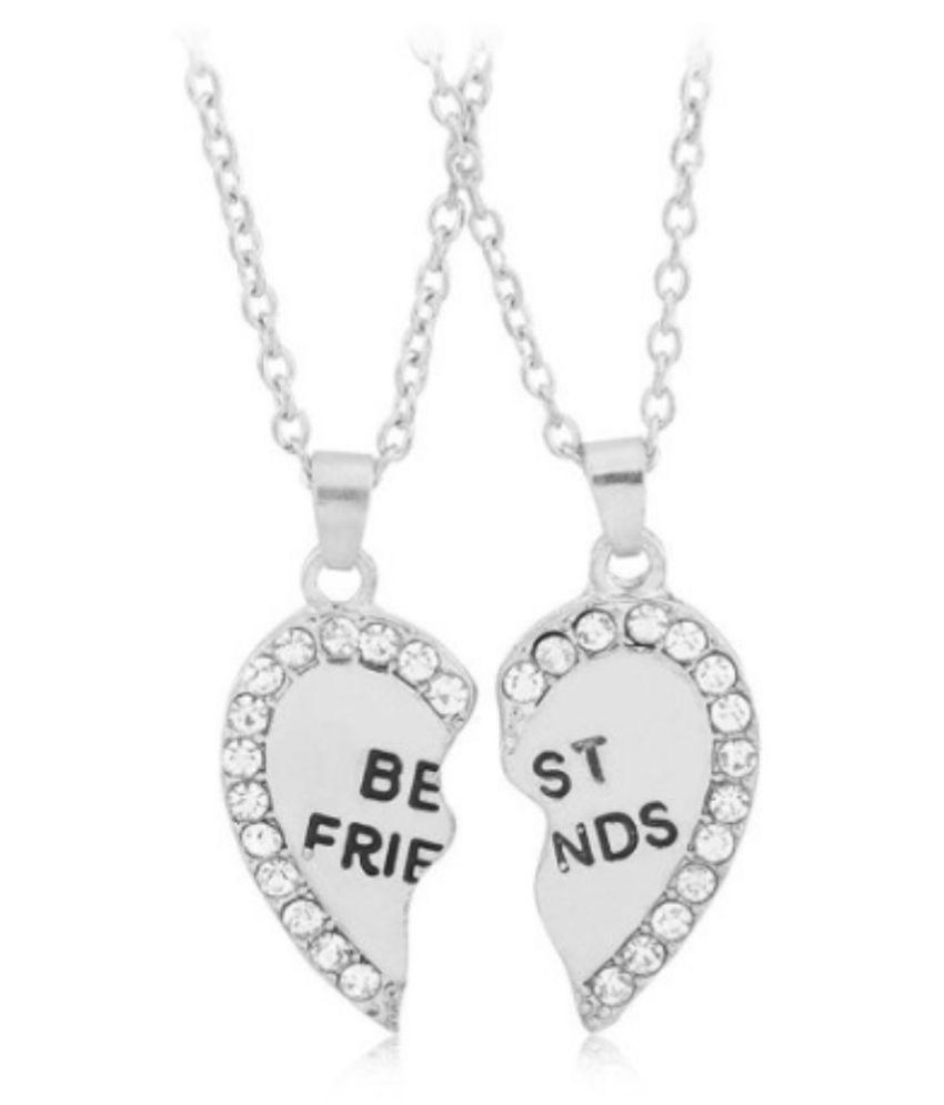 friends tone necklace set bff friend lockets butterfly silver best locket index
