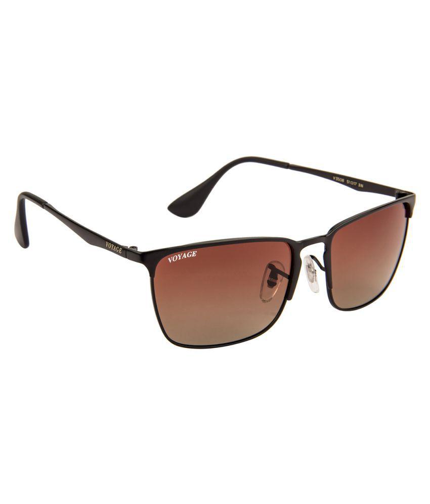 Voyage Brown Rectangle Sunglasses ( V3508MG1489 )