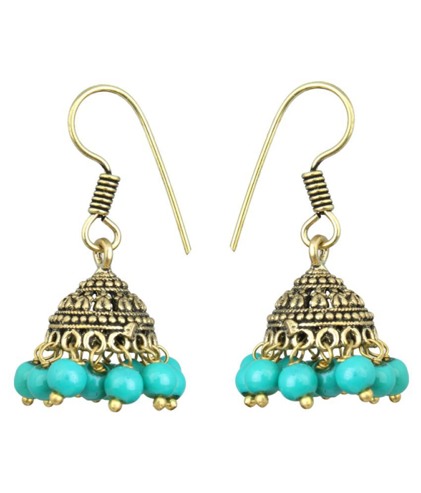 Waama Jewels Multi Color Jhumki Earrings Single Pair