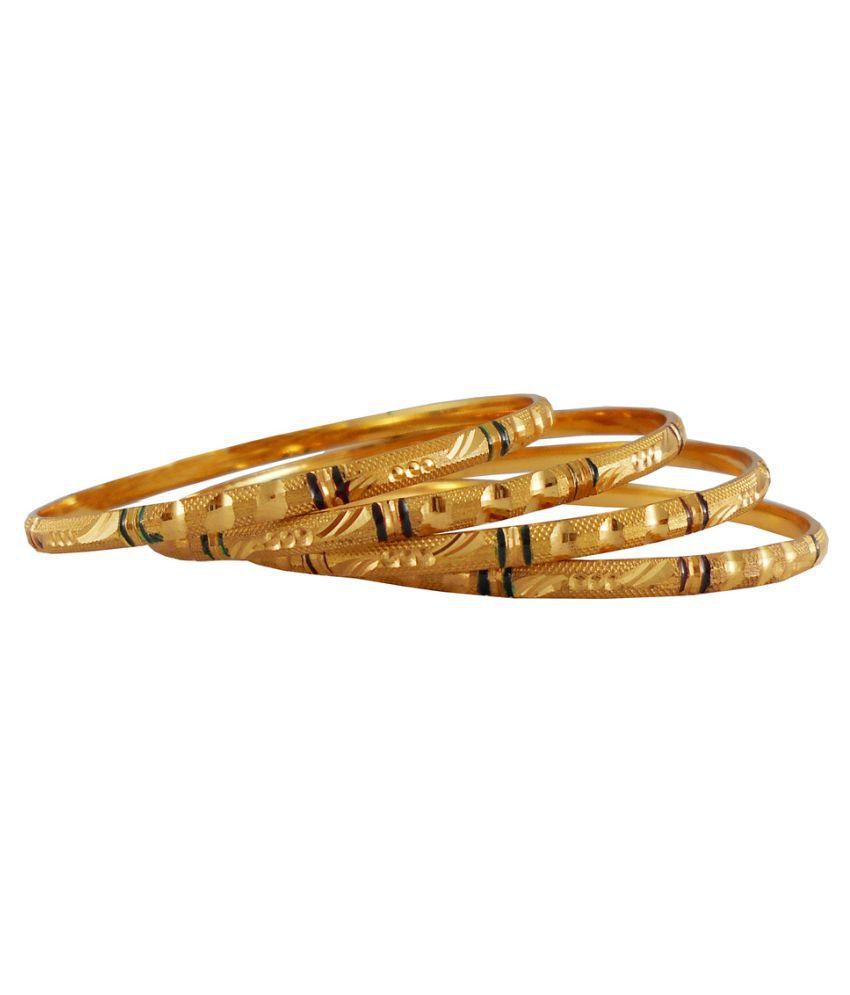 Rejewel Golden Bangle Set