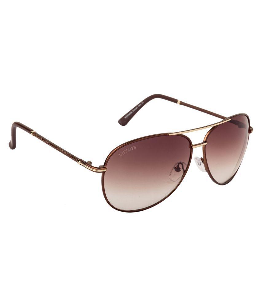 Voyage Brown Aviator Sunglasses ( 6005MG1448 )