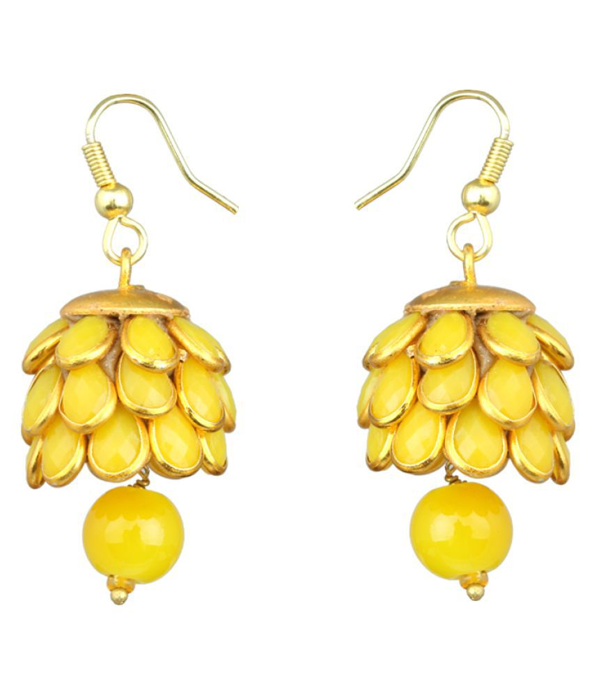 Waama Jewels Yellow Hanging Earrings