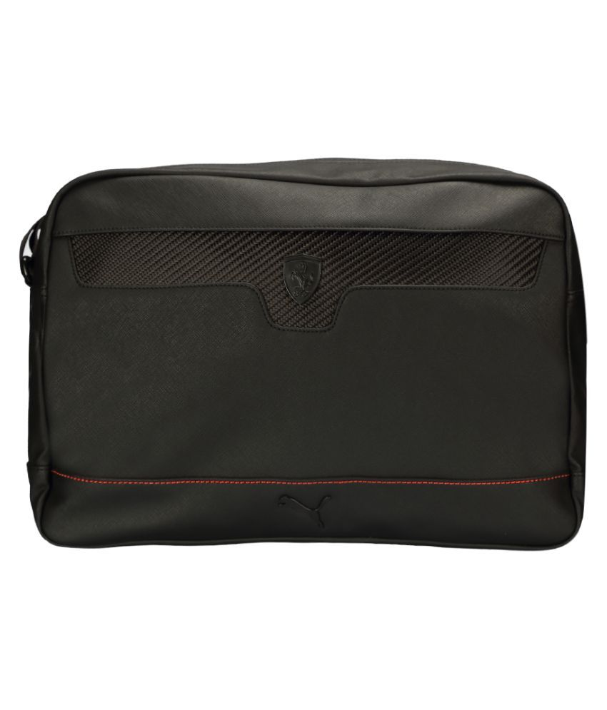 Puma Ferrari LS Reporter Black Polyester Casual Messenger Bag - Buy Puma Ferrari  LS Reporter Black Polyester Casual Messenger Bag Online at Low Price - ... e4c087593