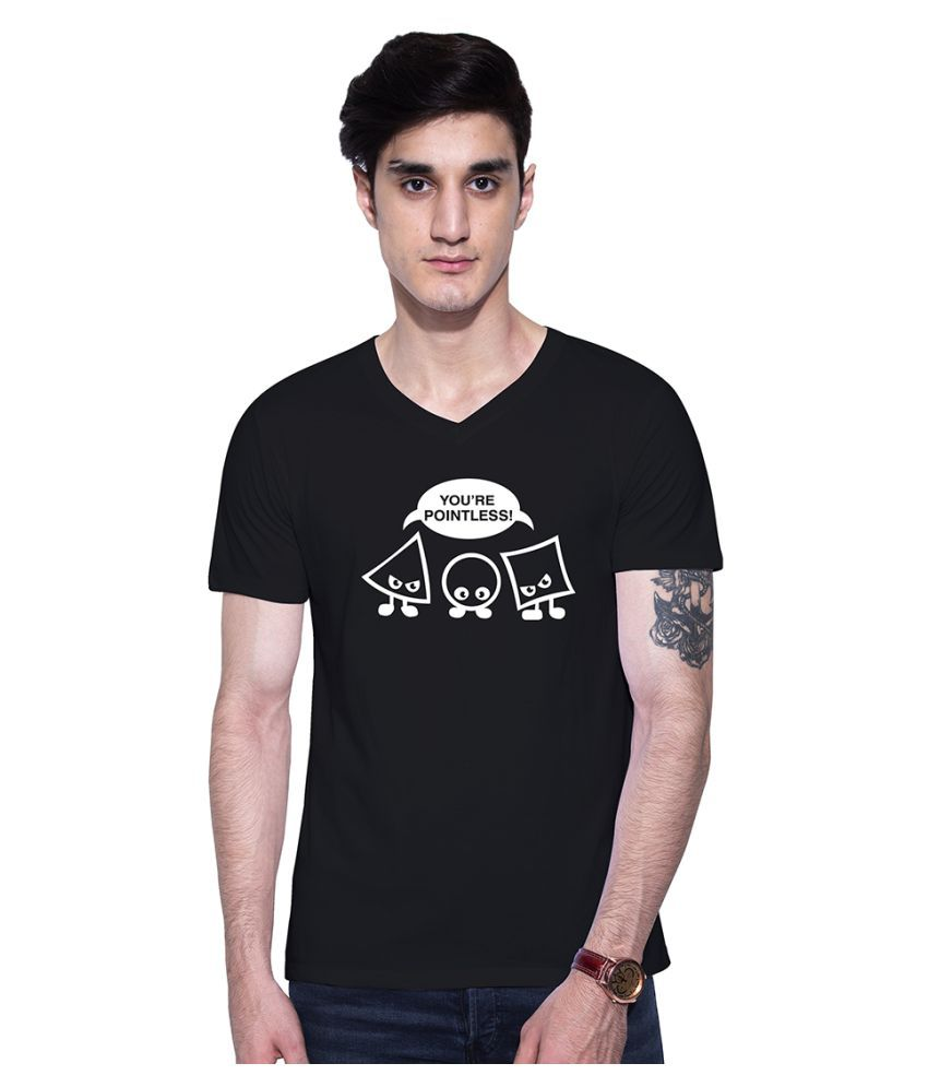 Uptown 18 Black V-Neck T-Shirt