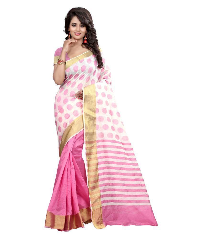 vishvam creation Multicoloured Art Silk Saree