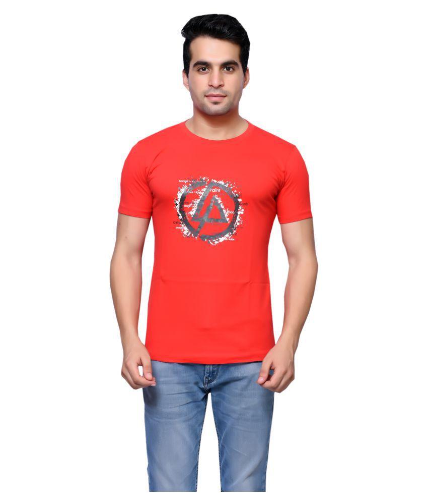 Oneliner Red Round T-Shirt