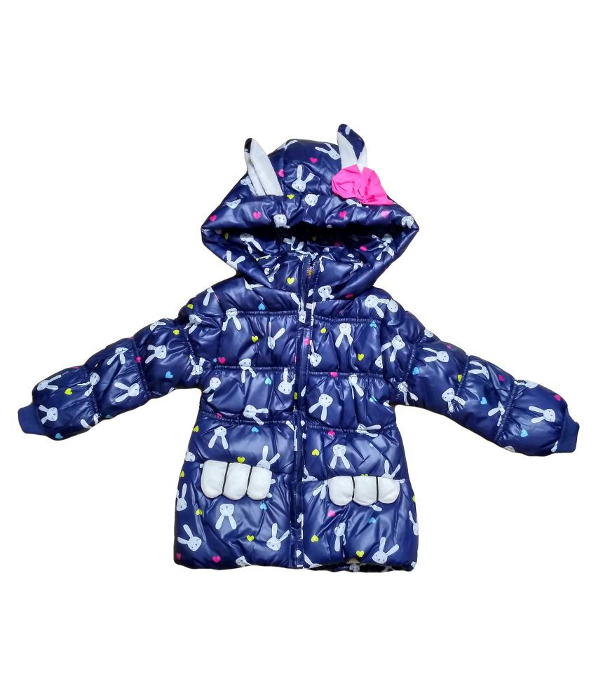 Fusion Fashion Blue  Quilted Girl's Jacket