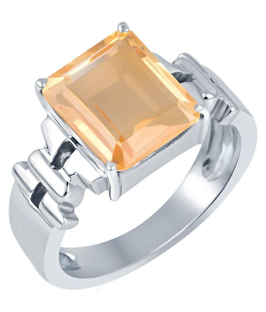 G-Luck 92.5 Silver Topaz Ring