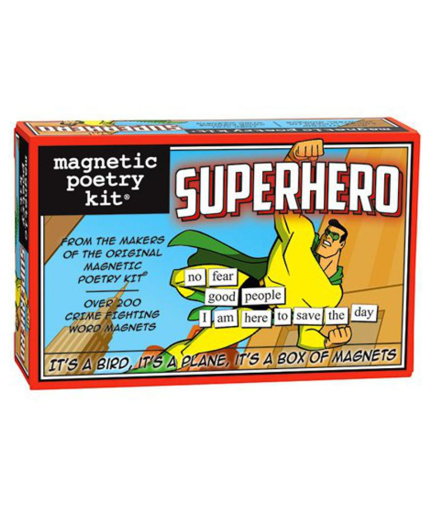 Magnetic Poetry - Superhero KitParty Decoration Kit Pack Combo