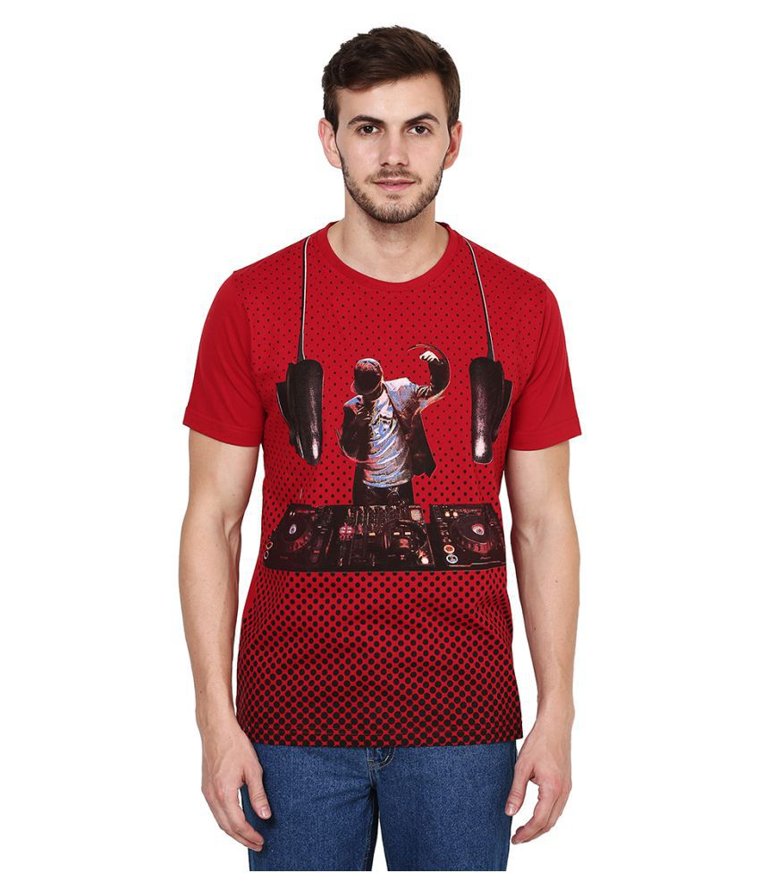British Cross Red Round T-Shirt