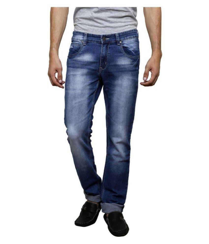 SuperX Blue Slim Washed Jeans