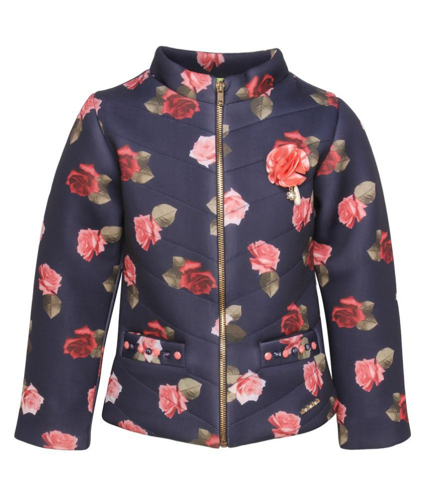 Cutecumber Navy Quilted Jacket