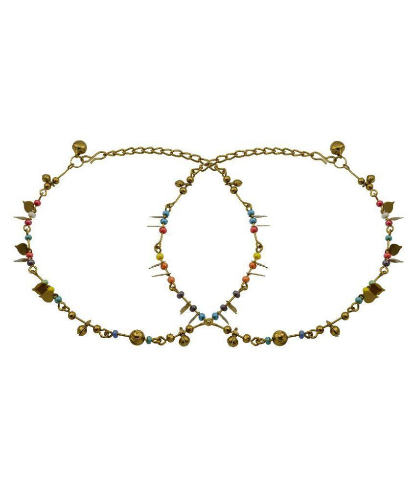 High Trendz Multicolour Anklet - Set of 2