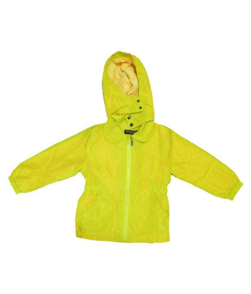 Lv Neon Yellow  Velvet Light Weight Jacket packa of 1