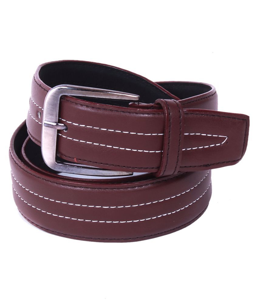 Calibro Brown Faux Leather Casual Belts