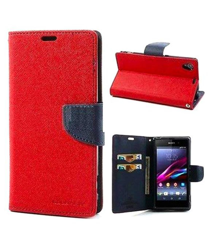 LYF Flame 1 Flip Cover by Kulasri Empire - Red