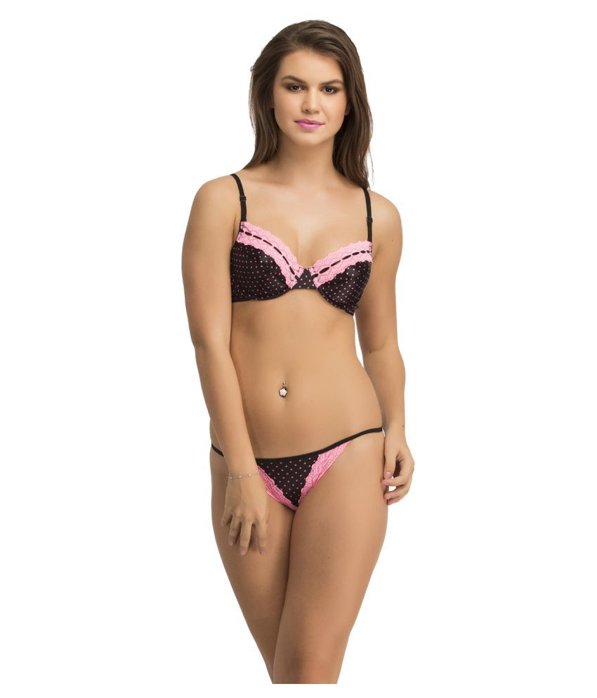 125bae984b6 Buy Clovia Black Lace Bikini Panties Online at Best Prices in India -  Snapdeal