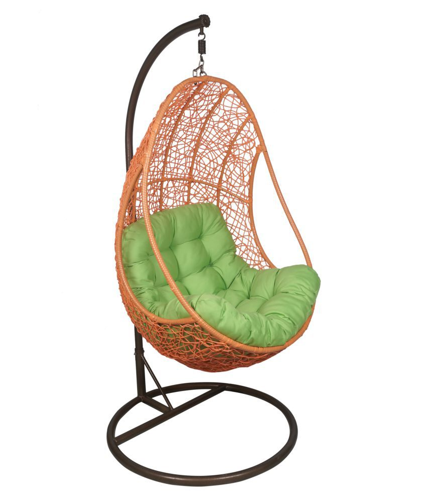 Outkraft Multicolour Hanging Swing Chair With Cushions Stand