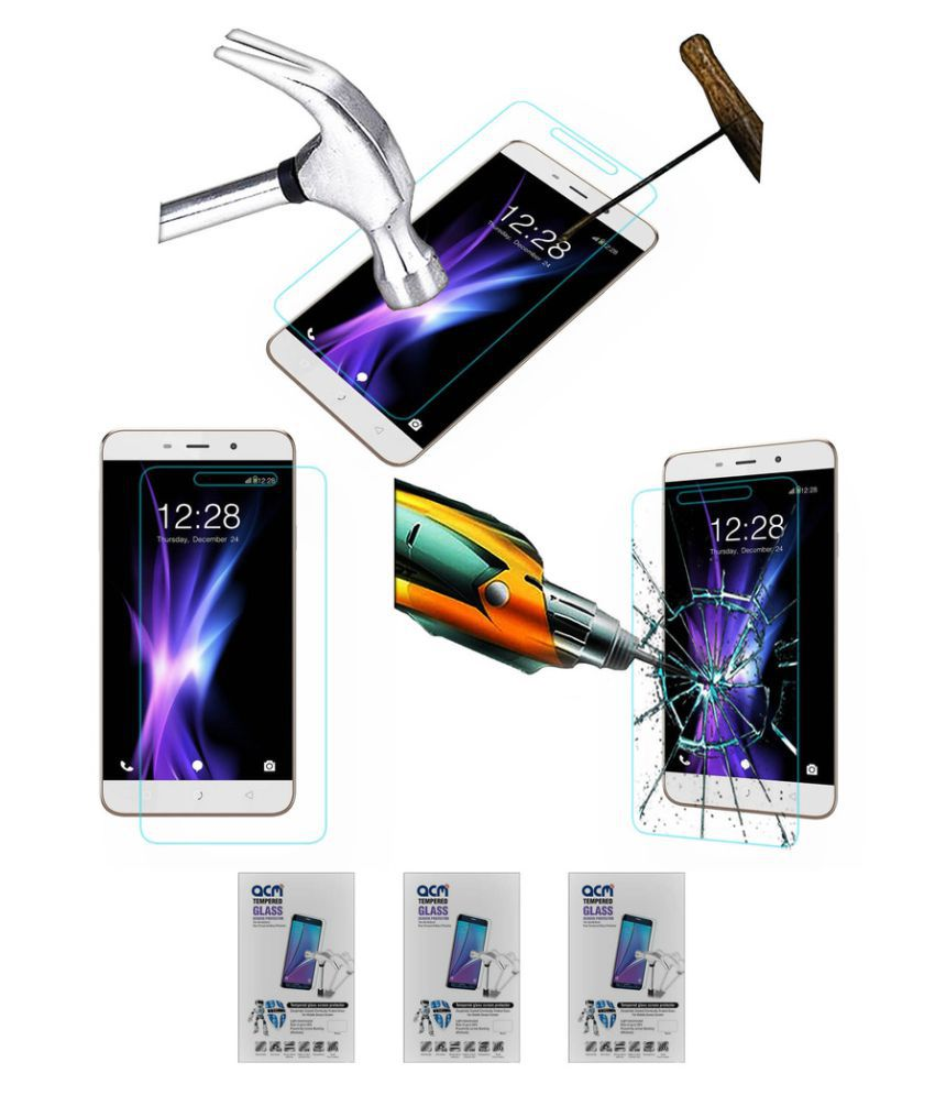 Coolpad Note 3 Plus Tempered Glass Screen Guard by ACM - Pack of 3