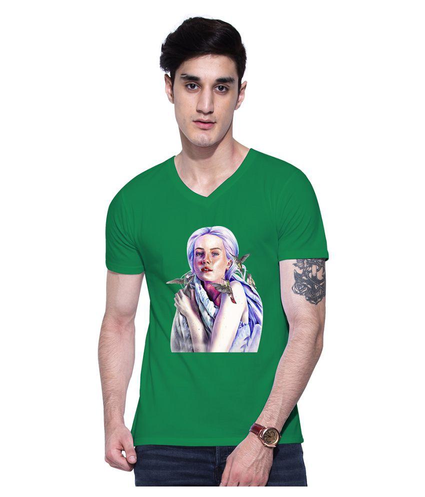 Uptown 18 Green V-Neck T-Shirt
