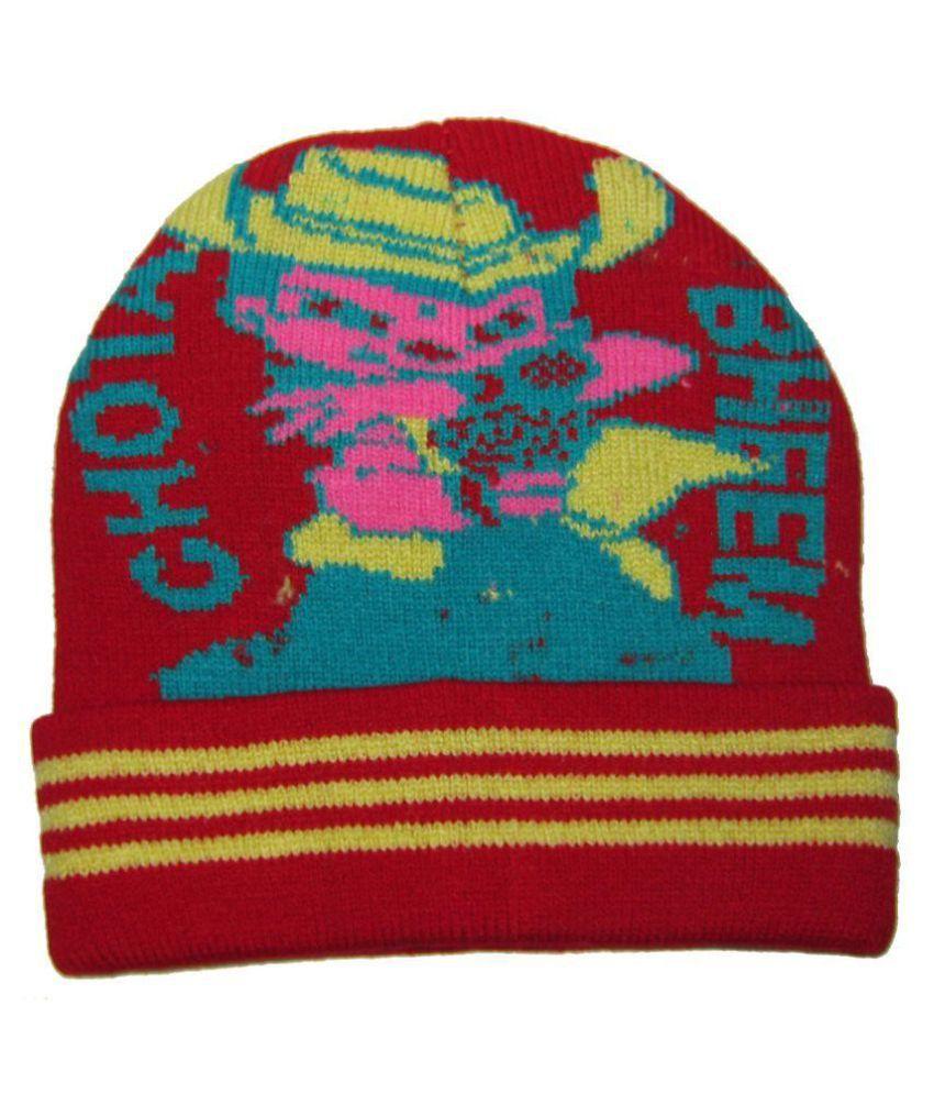 Goodluck Multicolour Woolen Caps