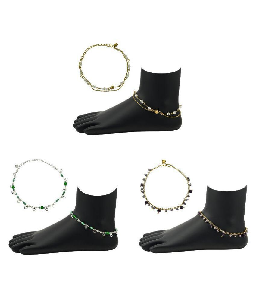High Trendz Fashionable Trendy Anklet Combos For Women And Girls (3pc Anklet)