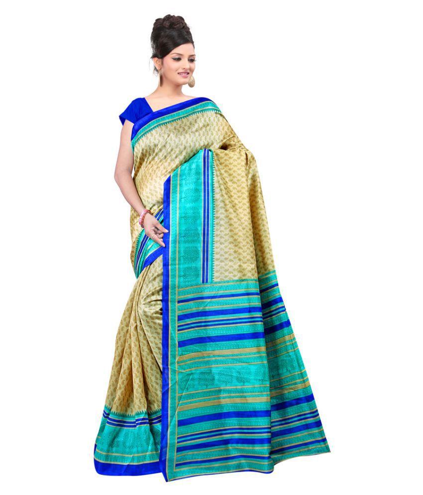 Vibhaa Multicoloured Cotton Silk Saree