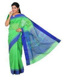 The Chennai Silks Green Chanderi Saree - 670481232393