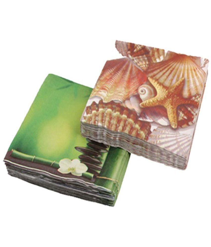 Ezee Printed Tissue Paper 13 Inches X 13 Inches 3 Ply 100 Pieces