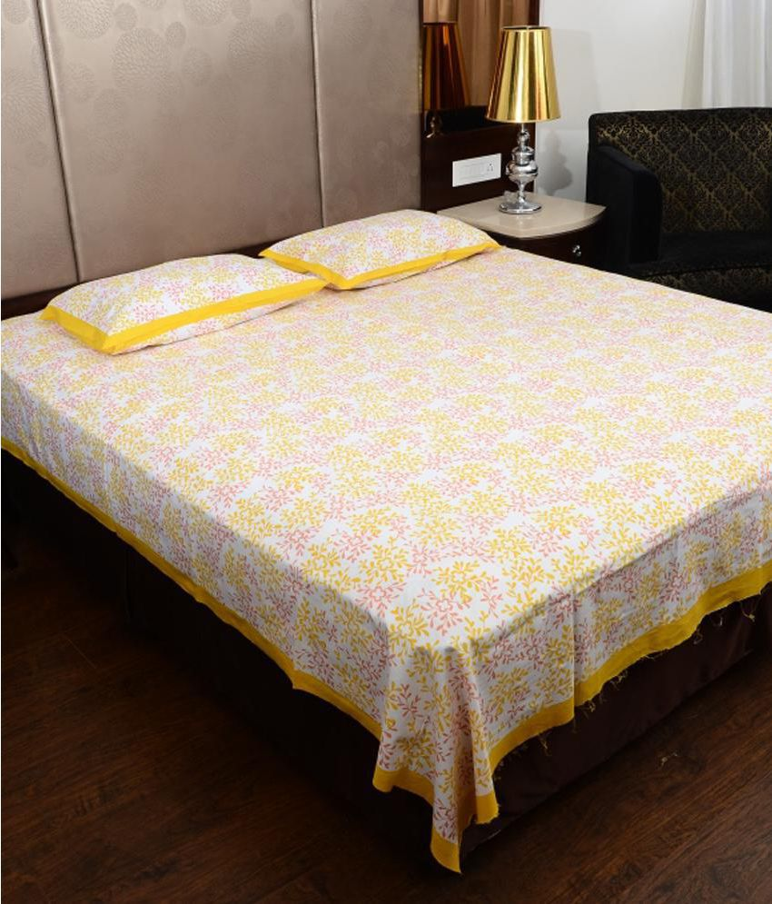 UniqChoice Double Cotton Printed Bed Sheet