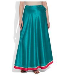 Very Me Turquoise Polyester Wrap Skirt