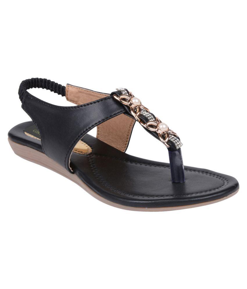 Girlstep Black Flat Heels