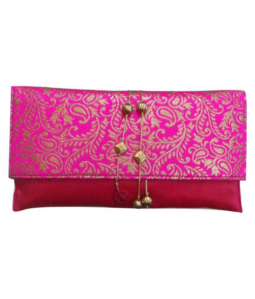 Bhamini Multi Silk Box Clutch