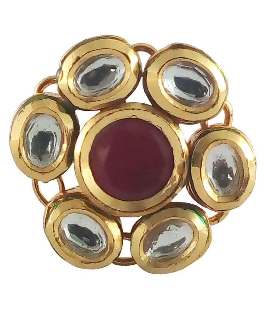 Rejewel Cubiz Zirconia Studded Multicolour Ring