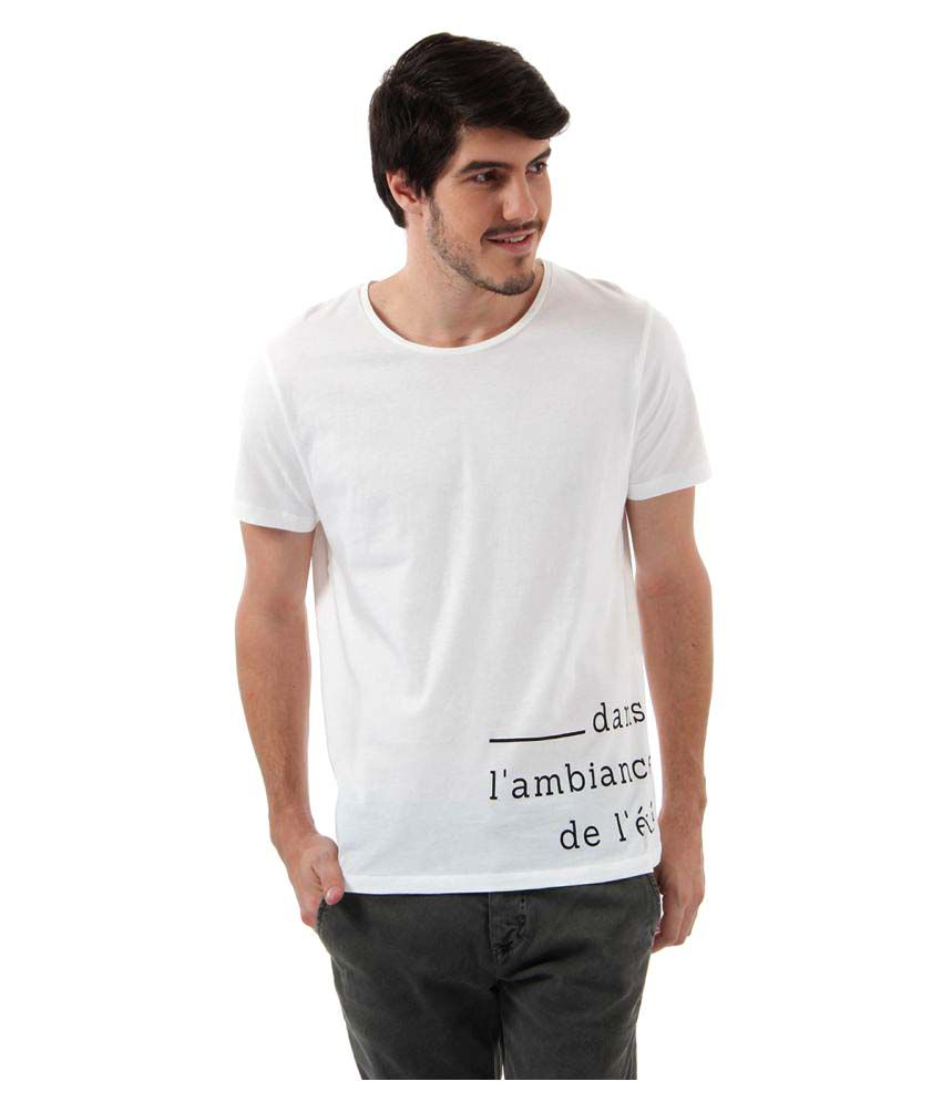 Selected White Round T-Shirt