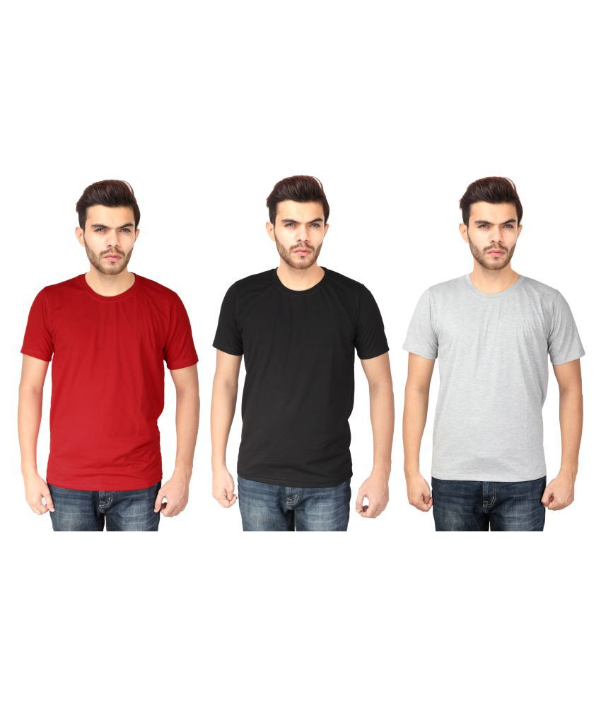 Myepitome Multi Round T-Shirt Pack of 3