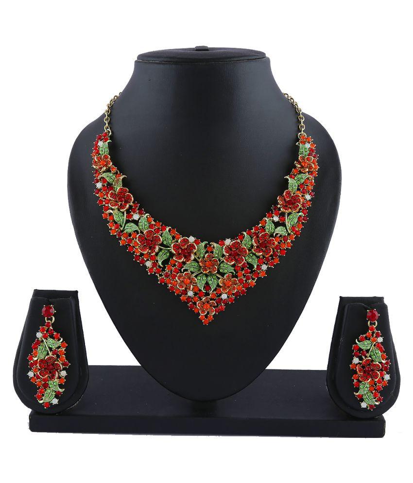 Anuradha Art Multicolor Necklace Set