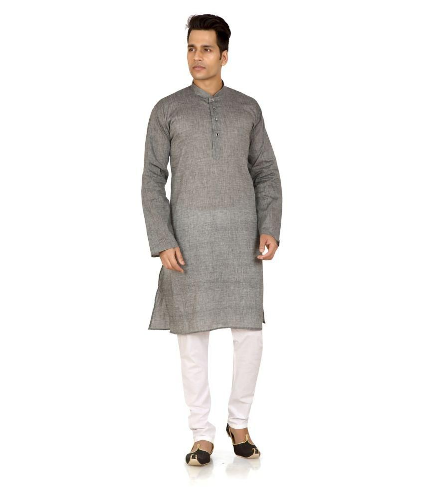 Trustedsnap Grey Kurta Pyjama Sets No