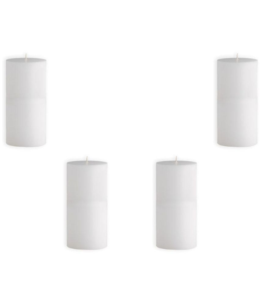 SOPHIES Pillar Candle White Pack of 4