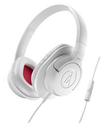Audio Technica On Ear Wired Headphones With Mic White