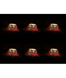 Gojeeva Multicolour Tea Light Holder - Pack Of 6