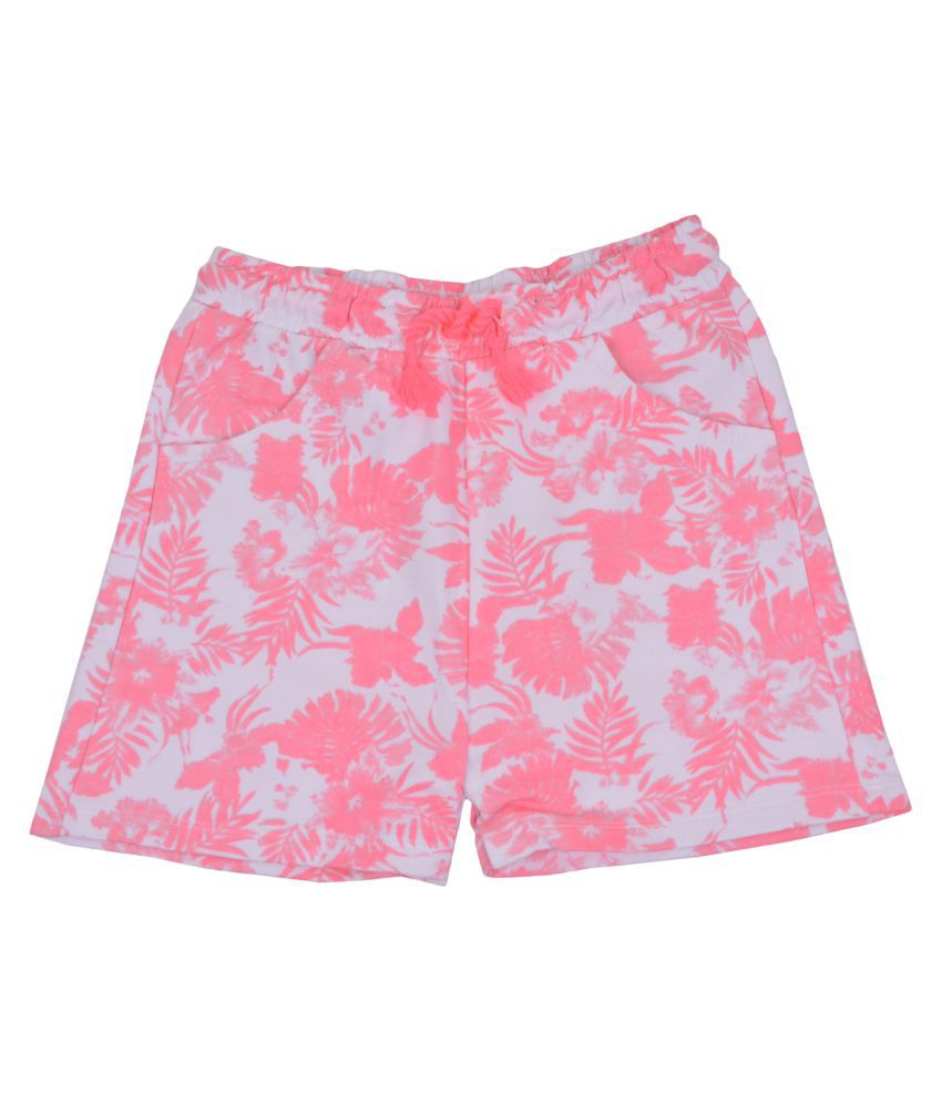 Shorts white and pink design