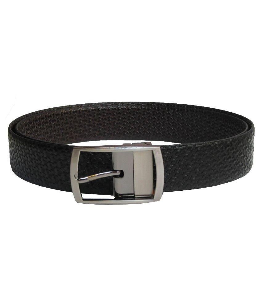 eXcorio Black Brown Spanish Leather Reversible Belt