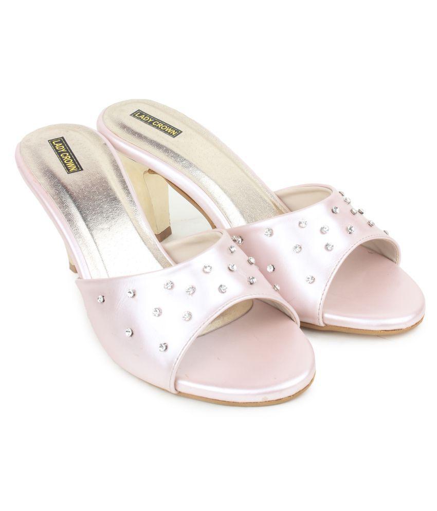 Lady Crown Pink Cone Heels