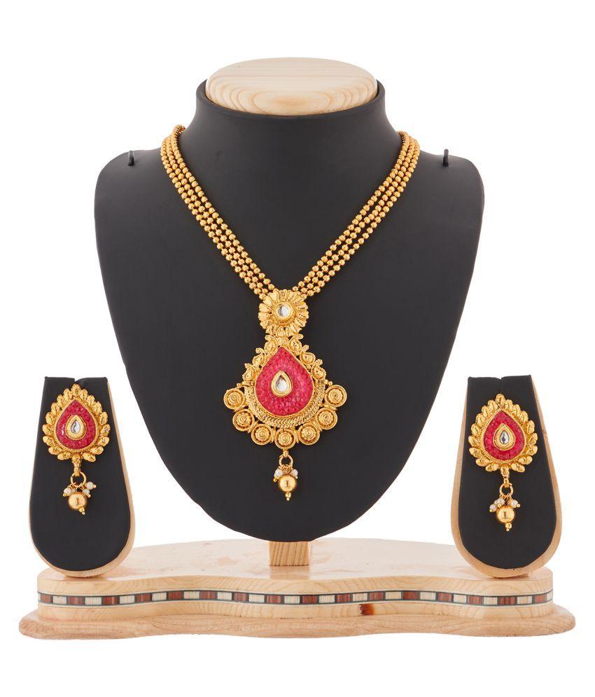 RG Fashions Golden Necklace Set