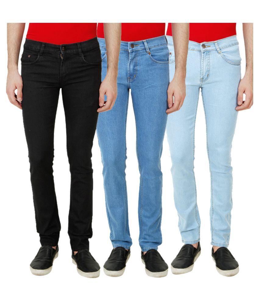 Ansh Fashion Wear Multicolored Regular Fit Solid