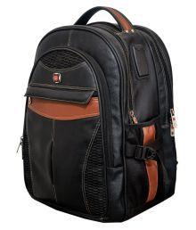 Vigne Black Solid Laptop Bags - 658855782124
