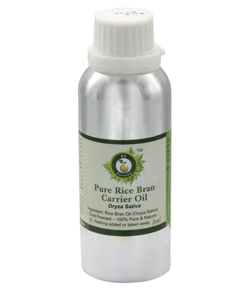 R V Essential Pure Rice Bran Carrier Oil 300ml- Oryza Sativa
