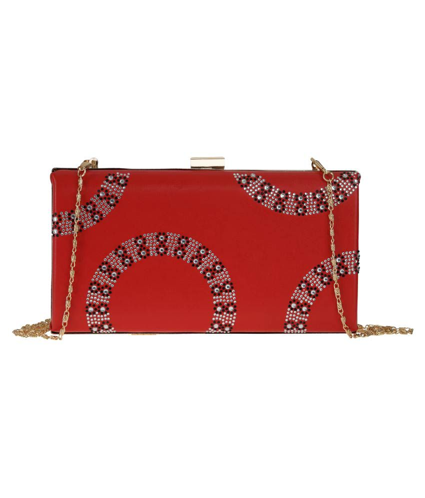 Sugarush Red Faux Leather Sling Bag