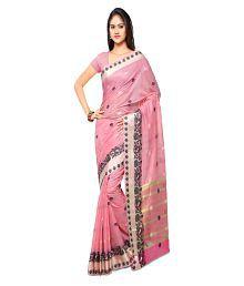 Varkala Silk Sarees Pink Chanderi Saree